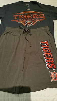 Detroit Tigers Training Shirt L and Training shorts Large