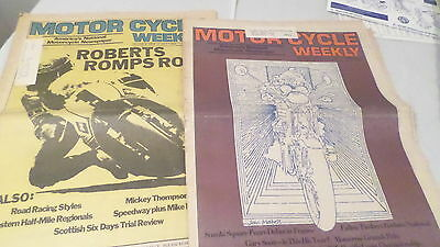 May 27 & July 1 1974 Motor Cycle Weekly Newspapers Suzuki Square Fours