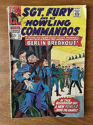 Sgt Fury And His Howling Commandos #35 Marvel October 1966 Very Good +