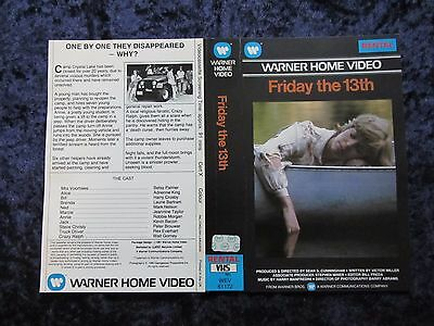 Friday The 13th - Original Insert/cover - Adrienne King- Horror