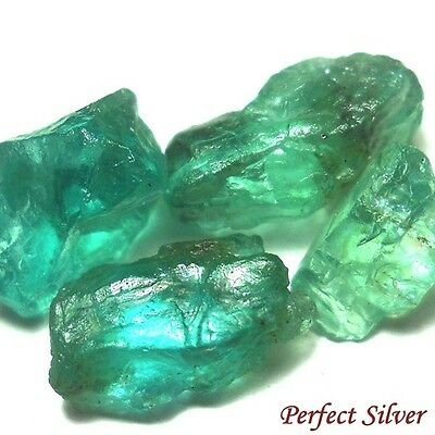 NICE GREEN ! 15.4 ct. 4 Pcs. Unheated! 100% Natural Green Apatite @ FREE SHIP