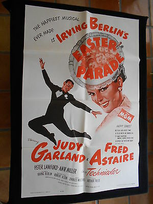 Easter Parade  Original One Sheet  R/62  Judy Garland  Fred Astaire