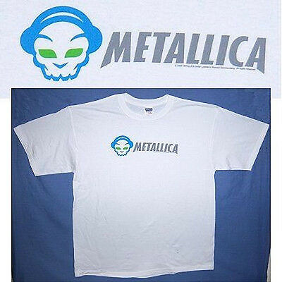 Metallica! Napster Skull White T-Shirt Xl New!