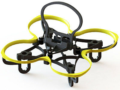 Lynx Yellow Spider 65 FPV Racer Frame - Uses Blade Inductrix Components LX2157