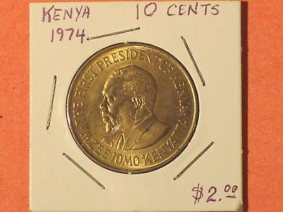 *** 1974  10 Cents coin / Kenya - KM# 11  Good example.