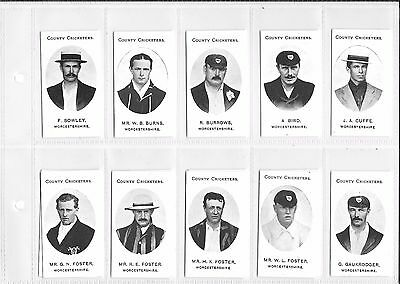 TADDY:COUNTY CRICKETERS - WORCESTERSHIRE: Nostalgia Reprint: #09