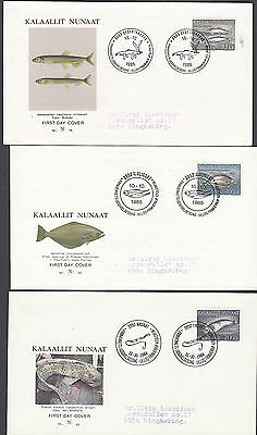 Greenland FDC Covers  HUNTING WHALES POLAR BEAR DEER