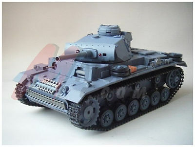 HengLong 1:16 R/C S&S Panzer III Tank(Super Version)--fast shipping