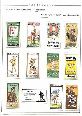 Reproduction cards - Will's Recruiting Posters Cigarette Cards