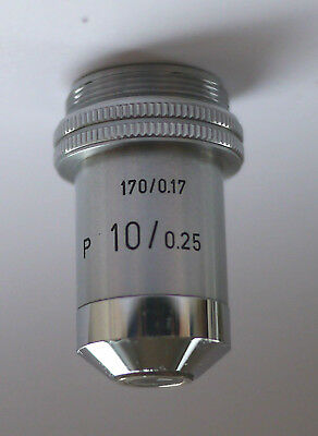 Leitz Polarizing Microscope Objective P 10/0.25 170/0.17 - Excellent