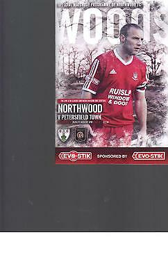 PROGRAMME - NORTHWOOD v PETERSFIELD TOWN - 28 JANUARY 2017