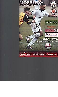 PROGRAMME - MOSSLEY v HYDE UNITED - 28 JANUARY 2017