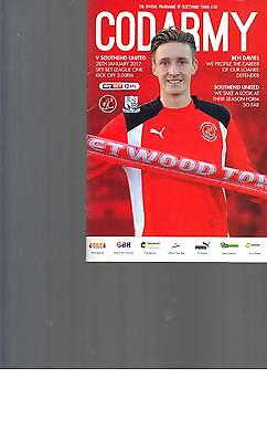 PROGRAMME - FLEETWOOD TOWN v SOUTHEND UNITED - 28 JANUARY 2017