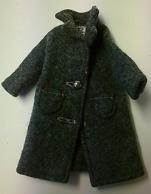 Sindy doll 1960's coat grey with label vintage retro collectable heavy winter