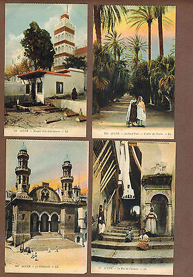 ALGIERS, ALGERIA: Collection of Scarce Antique Postcards (1920)U
