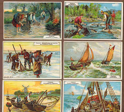 FISHING: Complete Set of RARE Victorian Trade Cards (1900)