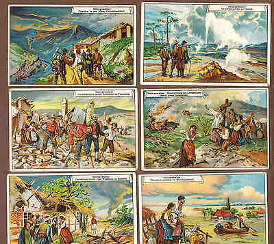 NATURAL DISASTERS: Complete Set of RARE Victorian Trade Cards (1900)