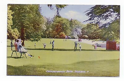Old Postcard Camperdown Park Dundee Scotland Pm 1966