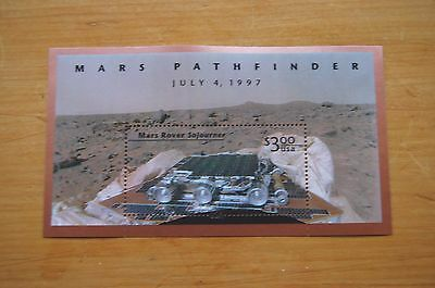 Stamps  Usa,   1997 Mars Pathfinder   $3.00 Sheet  In Mint Condition.