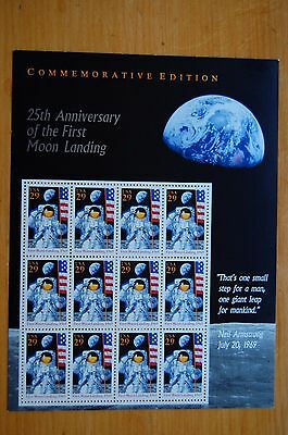 STAMPS  USA, 1994  25th ANNI  1st  MOON LANDING  29c  SHEET  MINT CONDITION.