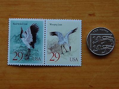 STAMPS   USA,  PAIR   29c  CRANES  1993   STAMPS MINT 2867-2868