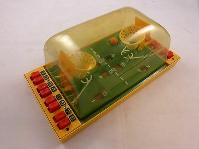 1960-70's Finger operated Basket Ball Game Vintage Toy - GOOD USED CONDITION