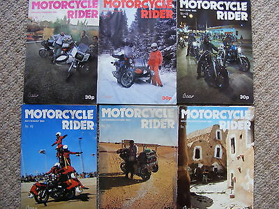 vintage original 1980 motorcycle rider magazines; full year for 80. small size