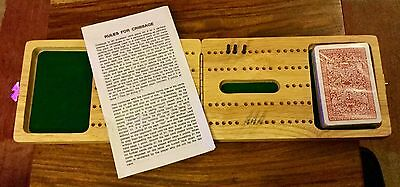 New but Unboxed Wooden Cribbage Set with Metal Pins by Gibsons Games