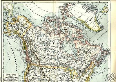 1901= CANADA = Antica MAPPA= OLD MAP
