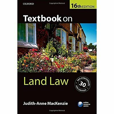 Textbook on Land Law 16/e - Paperback NEW Judith-Anne Mac 1 Sept. 2016