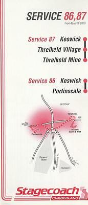 CUMBERLAND Route 86 Bus Timetable Lft MAY 2000