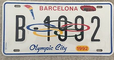 Barcelona 1992 Olympics Collectable Number Plate
