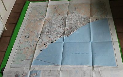 Fairey Survey Map Limosol Large Sheet Map Ministry Of Defence 1974