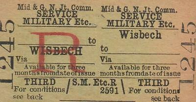 Midland & Great Northern JOINT Railway Ticket WISBECH 1245