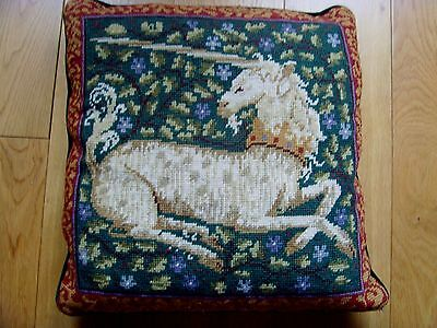 Ehrman Needlepoint Tapestry Cushion Cover The Unicorn Candace Bahouth Medieval