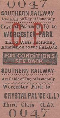 Southern Railway Ticket WORCESTER PARK 0047