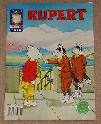 CELEBRITY RUPERT BEAR FORTNIGHTLY COMIC NO.5 DATED 13th DECEMBER 1989