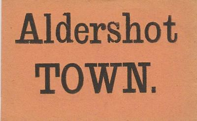 South Eastern & Chatham Railway Luggage Label ALDERSHOT TOWN