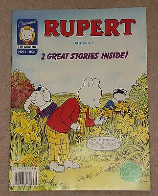 CLEARMARK RUPERT BEAR FORTNIGHTLY COMIC NO.11 DATED 7th MARCH 1990