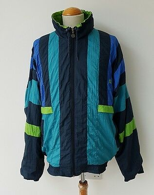 Vintage Fred Perry Top 80s Shellsuit Retro Jacket XL