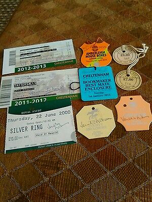 Signed tickets and badges by ventia williams