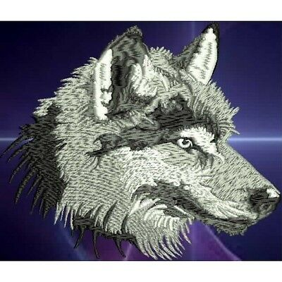 Embroidered Long-Sleeved T-Shirt - Wolf  PE02