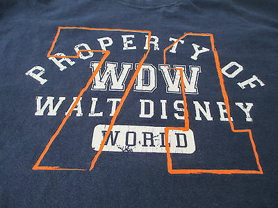 Walt Disney World Disneyland Sport Navy Blue T Shirt Size L Large XL X-Large