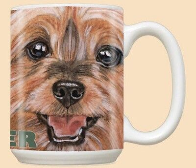 15 oz. Ceramic Mug (PS) - Silky Terrier MU728