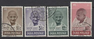 India Sg305/8 1948 Gandhi First Anniv Of Independence Set Used