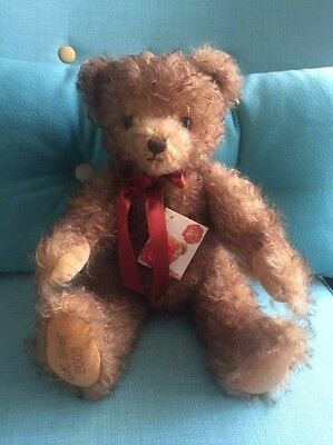 Musical Hermann Teddy Bear Plays Let Me Your Teddy Bear Is In Excellent Conditio