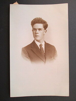SMARTLY DRESSED YOUNG GENTLEMAN - REAL PHOTO BY A. BOND, BODMIN, CORNWALL 1910s
