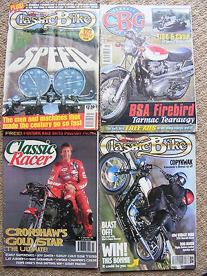1990s classic bike magazines, classic racer,classic bike guide. vintage m/cycles