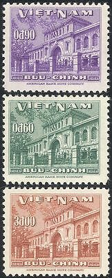 Vietnam 1956 UPU Admission/Post Office Building/Architecture 3v set (n43563)