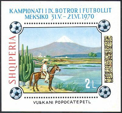Albania 1970 Football World Cup/Sports/Mountain/Horses/Cacti/Volcano m/s n30442